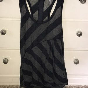 Navy blue and gray cotton tank top